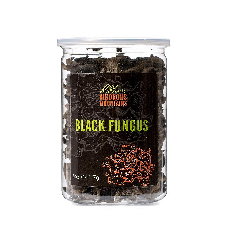 VIGOROUS MOUNTAINS Dried Black Fungus Woodear Mushrooms 5 Ounce