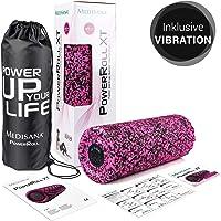 Medisana PowerRoll XT Ultrasoft Faszienrolle - Schaumstoffrolle für Faszienübungen - mit Trainingsplan, DVD und Tragetasche - Massagerolle mit Vibrationsfunktion mit 8 Intensitätsstufen - 99078