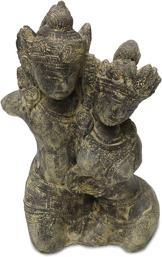 Rama Sita Figura Escultura piedra Dios Estatua Lava Arena Bali Jardín Decoración 43 cm: Amazon.es: Hogar