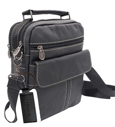 fee99cd6ae Charmoni® - Sac pochette sacoche à bandoulière poignet et sa porte clé cuir  en Cuir