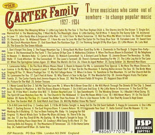 The Carter Family The Carter Family 1927 1934 Amazon Music