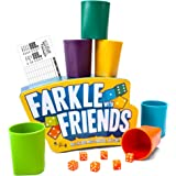 Brybelly Farkle with Friends - The Classic 6-Player Dice Game in a Premium Storage Tin - Colored Dice with Matching Cups…