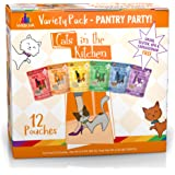 Weruva Cats in The Kitchen, Pantry Party Pouch Variety Pack in Gravy Cat Food, 3oz Pouch (Pack of 12)