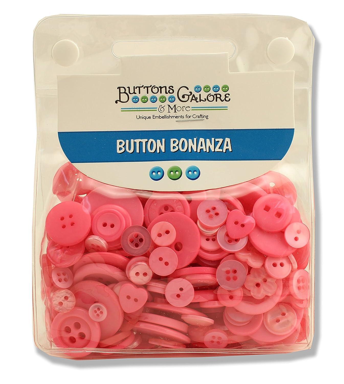 Buttons Galore Button Bonanza, Brilliant Pink by Buttons Galore   B0087D3GRG