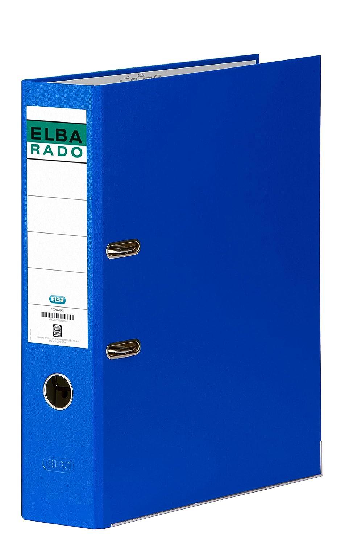 Elba Rado Chic - Archivador palanca en PVC, A4, color azul oscuro: Amazon.es: Oficina y papelería