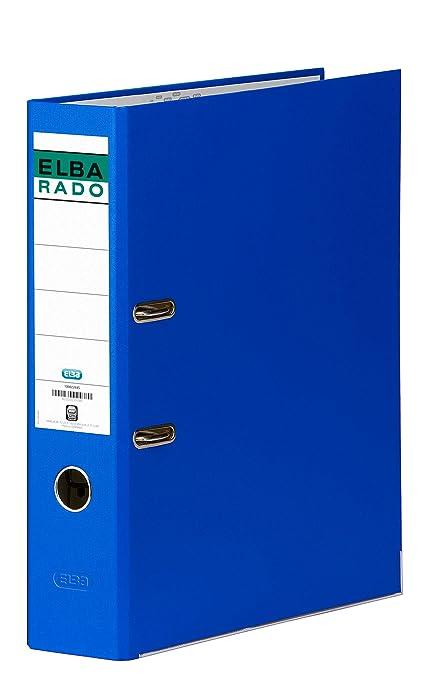 Elba Rado Chic - Archivador palanca en PVC, Fº, color azul oscuro