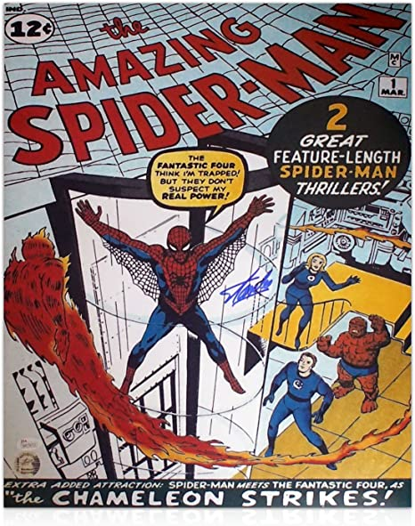 exclusivememorabilia.com Cartel de Spider-Man firmado por Stan Lee ...