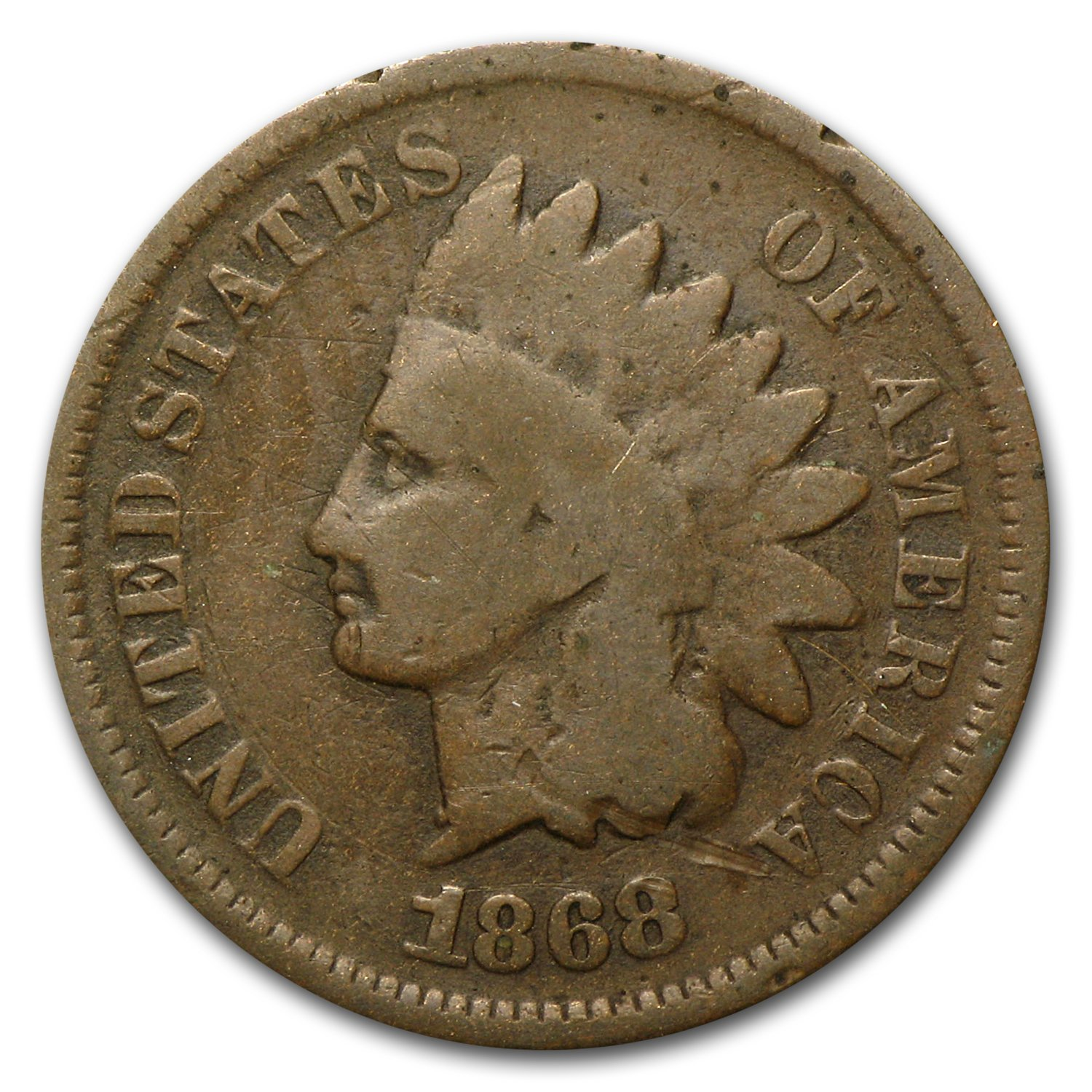 1880 INDIAN HEAD CENT PENNY CIRCULATED GRADE AG GOOD 95/% COPPER COIN