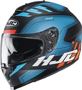 Hjc Helmets Herren Nc Motorrad Helm Schwarz Blau L Auto