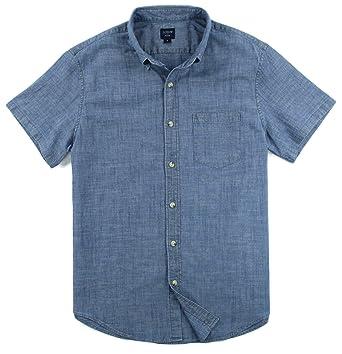 b494baa3 J. Crew - Men's - Slim Fit Short Sleeve Chambray Shirt (Multiple (Medium