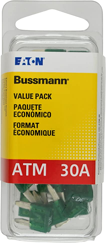 Yellow 2 Amp Fast Acting ATM Mini Fuse, Bussmann Pack of 25 VP//ATM-2-RP