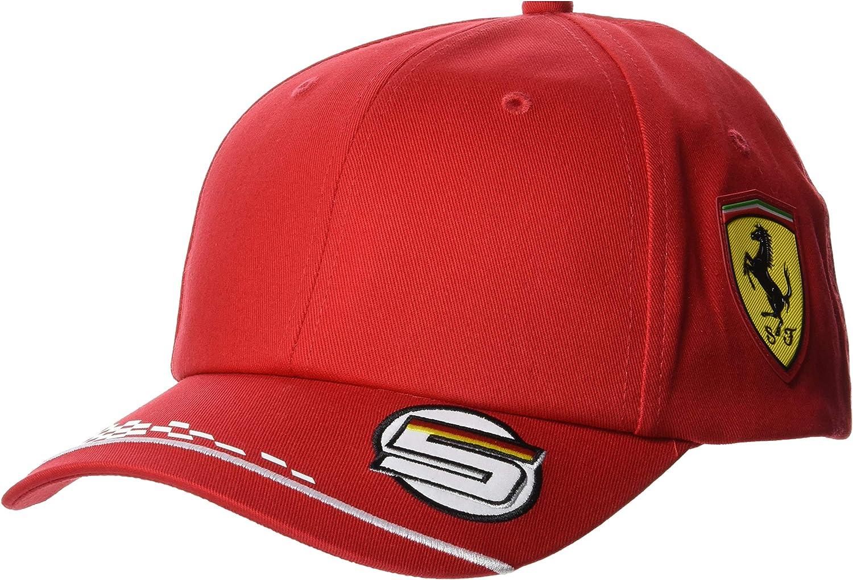 Ferrari Men S Vettel Driver Cap Baseball Cap Red One Size Bekleidung