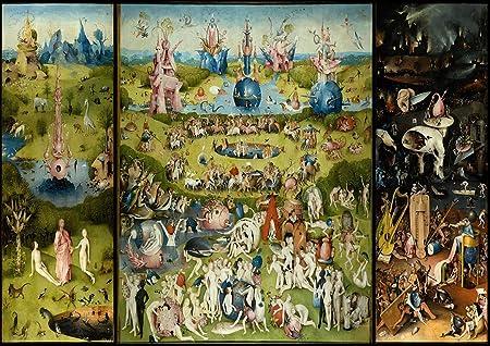Hieronymus Bosch: el jardín de las delicias. El cielo/infierno Fine Art Print/Póster. Tamaño A2 (59.4 cm X 42 cm): Amazon.es: Hogar
