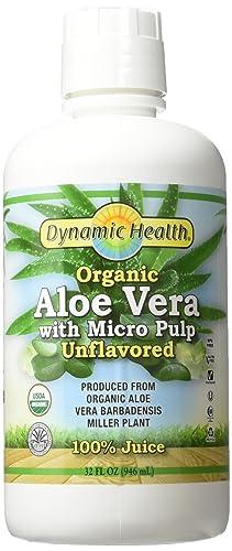 Dynamic Health Labs Organic Aloe Vera Juice with Micro Pulp