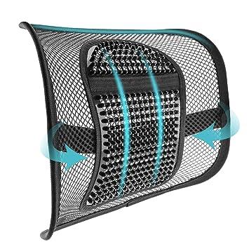 Amazon.com: ACVCY - Soporte lumbar de malla para silla de ...