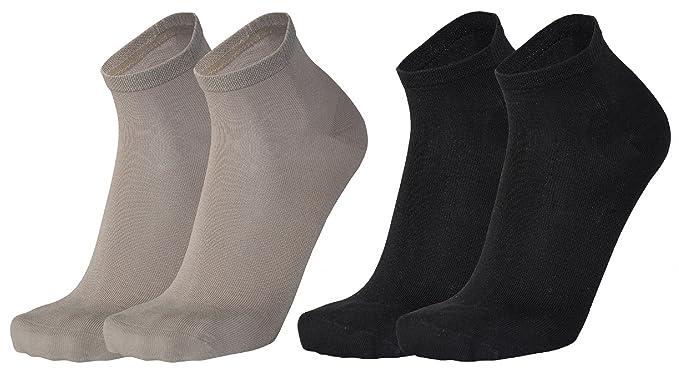 Tobeni 6 Pares de Calcetines Cortos de Bambu Cuarto para Mujer y Hombre: Amazon.es: Ropa y accesorios