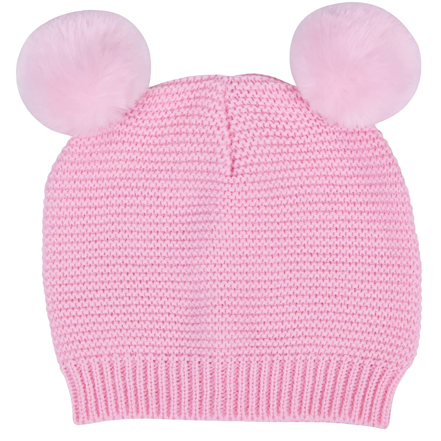 Amazon.com  Waddle Baby Girls Pom Pom Beanie Warm Hat for Fashion Fall or  Winter 6-12 Months Light Pink Knit  Baby f451045200c