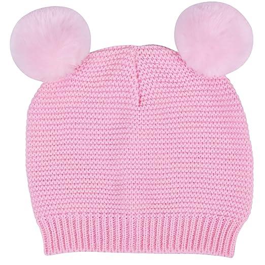 Waddle Baby Girls Pom Pom Beanie Warm Hat for Fashion Fall or Winter 6-12 a859adb746f