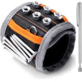 HORUSDY Magnetic Wristband, with Strong Magnets for Holding Screws, Nails, Drilling Bits, Tool Gift for Men