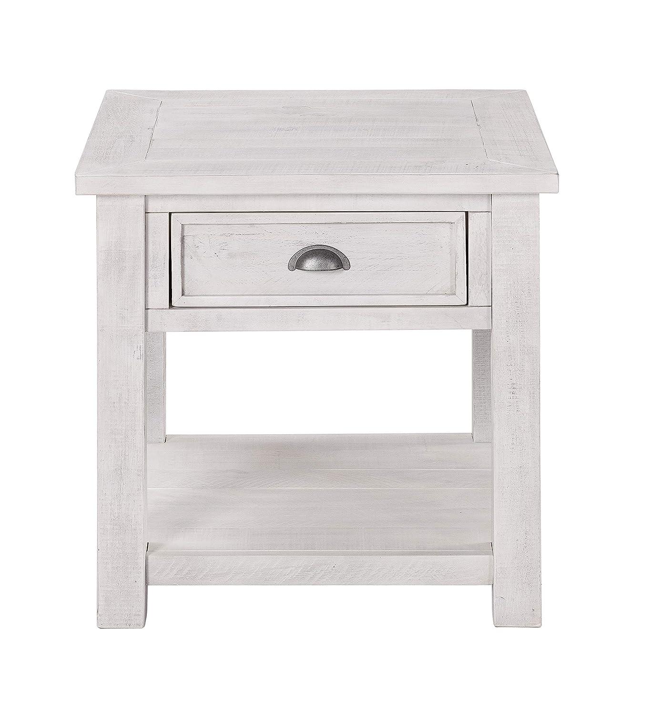 Martin Svensson Home 890633 Monterey Solid Wood End Table White