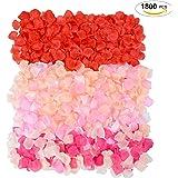 Rose Petals, Coxeer 1800Pcs Flower Petals Artificial Petals Flower Petals Decoration Petals for Wedding