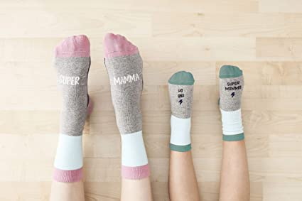 """UO""""A continuación quisiera supermamma calcetines, Algodón, Gris, ..."""