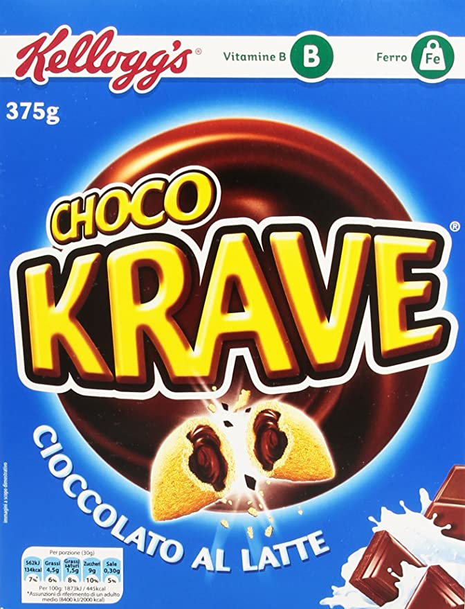 6 opinioni per Kellogg'S Choco Krave Cioccolato Al Latte 375 G