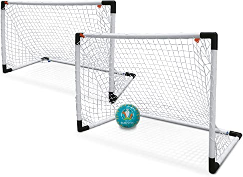 Mondo Toys-UEFA Goal Post - Mini Juego de 2 porterías de fútbol ...