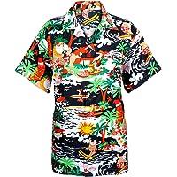 SAITARK Mens Christmas Santa Xmas Hawaiian Shirt Hawaii Gift HIM Party Holiday S to XXL