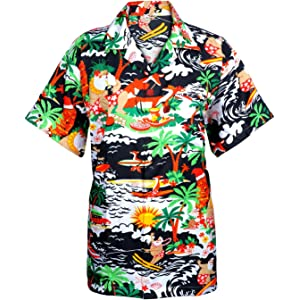 e2bac9878 SAITARK Mens Christmas Santa Xmas Hawaiian Shirt Hawaii Gift HIM Party  Holiday S to XXL