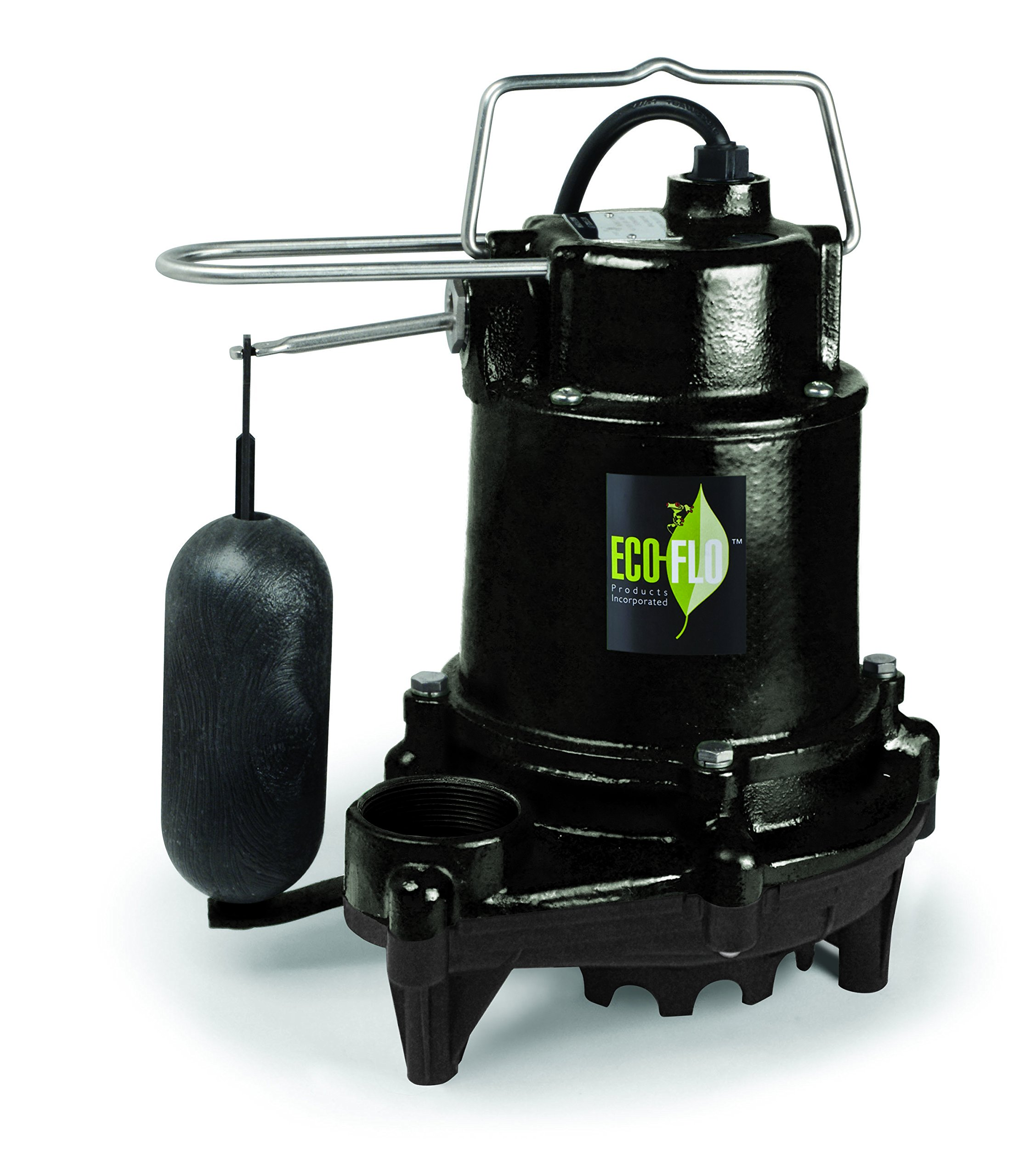 ECO-FLO Products EFSA33 1/3 hp 3160 gph Cast Iron Sump Pump with Vertical Switch