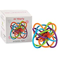Motherly Baby toys Winkel Rattle and Sensory Teether Activity Rings (3-12months, Multicolour)