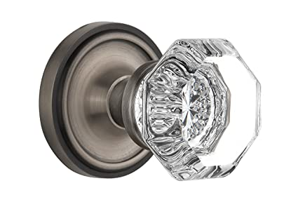Ordinaire Nostalgic Warehouse Classic Rosette With Waldorf Crystal Door Knob, Mortise    2.25u0026quot;, Antique