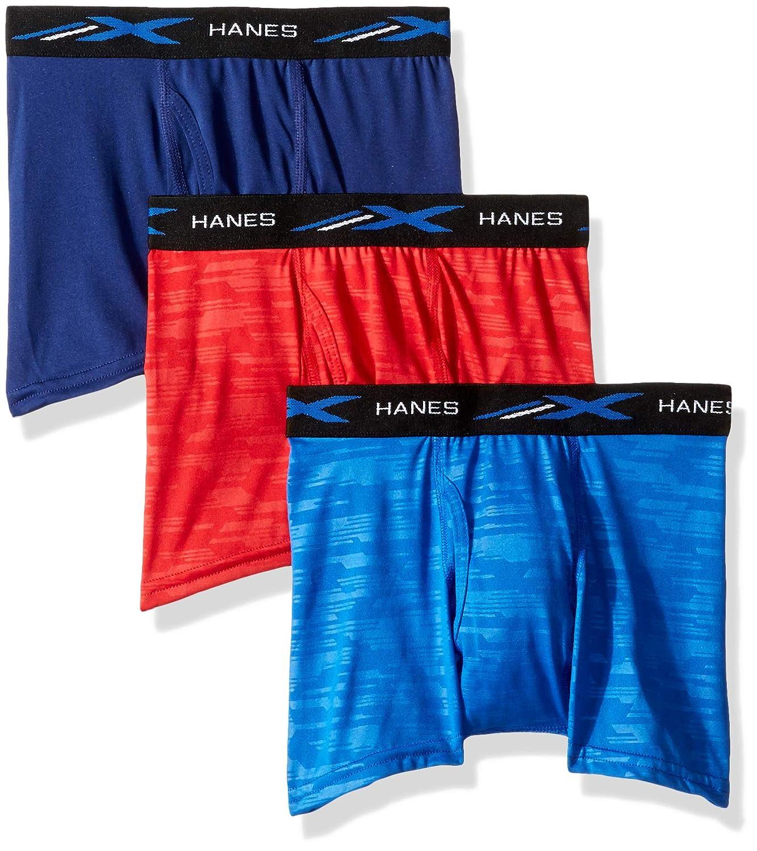 Hanes Ultimate Mens Big Boys X-Temp Embossed Boxer Brief 3-Pack