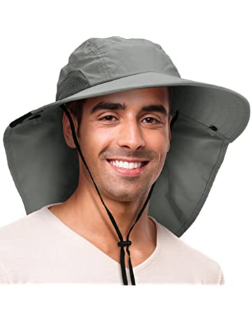 4027cc22d6348 Solaris Outdoor Fishing Hat with Ear Neck Flap Cover Wide Brim Sun  Protection Safari Cap for