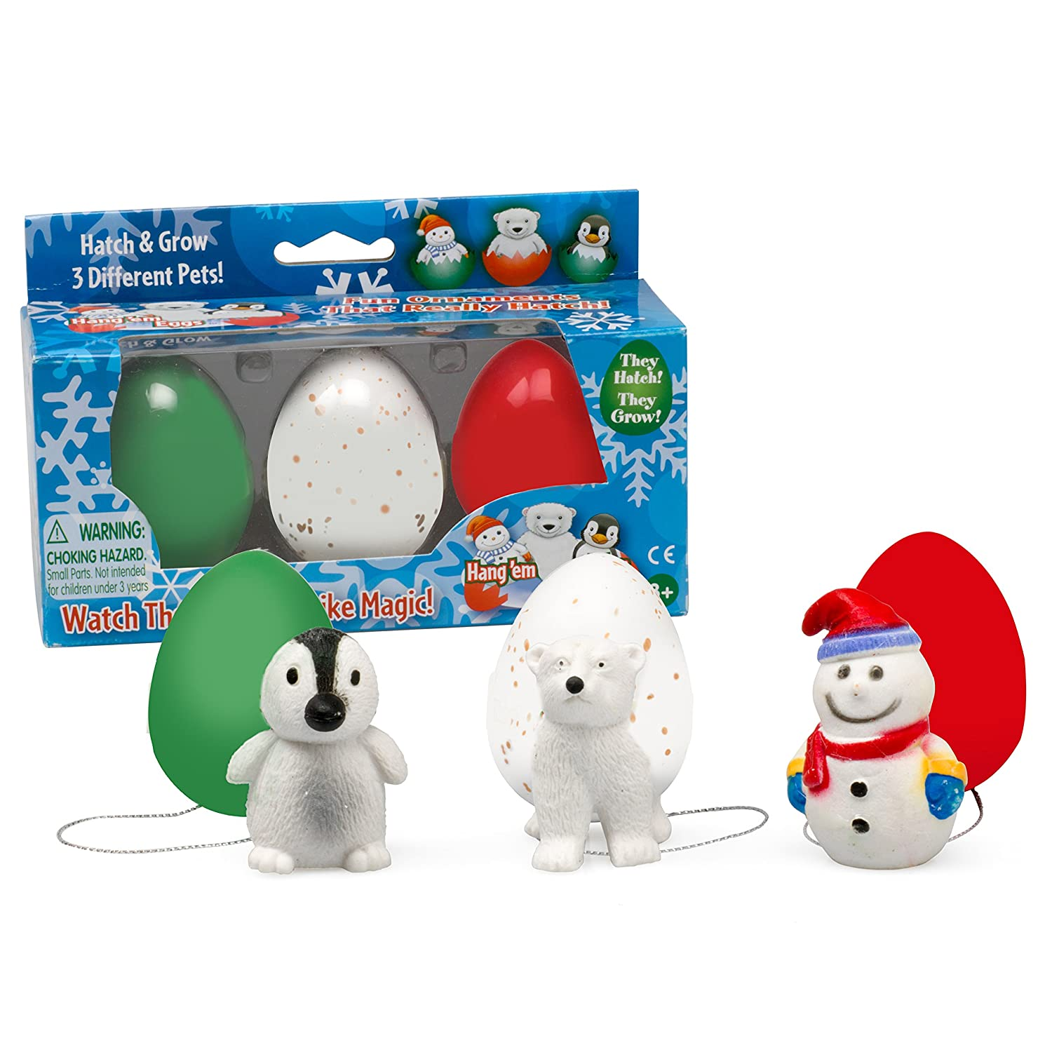 Amazon.com: SCS Direct Super Grow Eggs Holiday Pets - Xmas Hatching ...