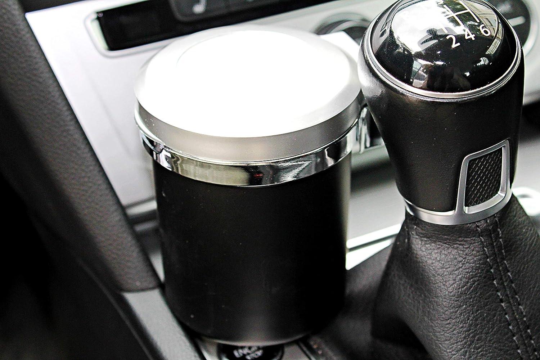 Cendrier de voiture rond noir avec tuteurs de glut