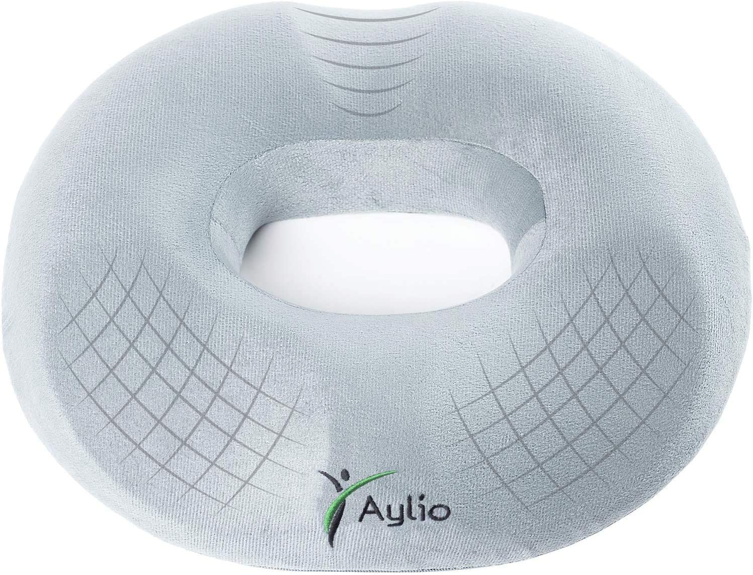 Aylio Firm Donut Pillow Seat Cushion for Hemorrhoids, Prostate Relief, Pregnancy Pain, Pressure Sores: Home & Kitchen