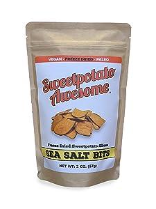 Sweetpotato Awesome, Sea Salt Bits, Freeze Dried Sweetpotato Slices, 2 oz