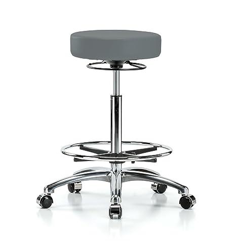 Terrific Amazon Com Perch Chrome 360 Degree Rolling Adjustable Inzonedesignstudio Interior Chair Design Inzonedesignstudiocom