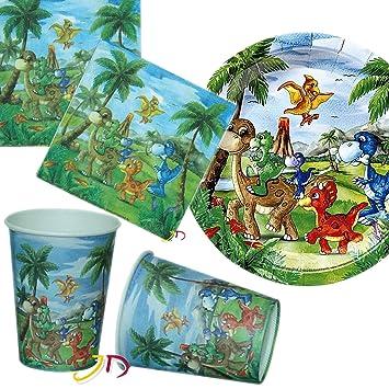 32 piezas Party * * dinosaurios con plato + taza + ...
