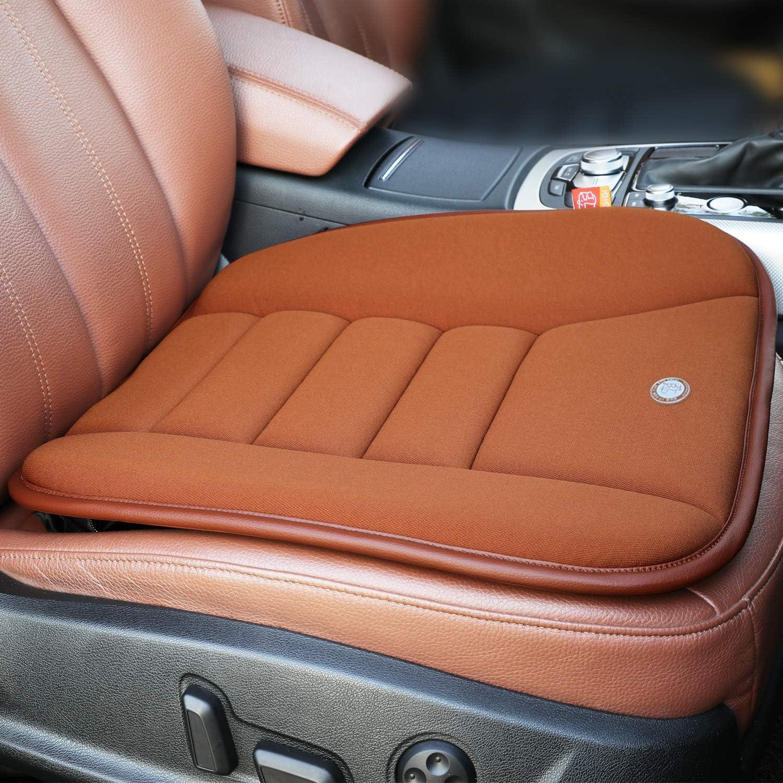 RaoRanDang Car Seat Cushion Pad For Car Driver Seat Office Chair Home Use Memory Foam Seat Cushion, Coffee