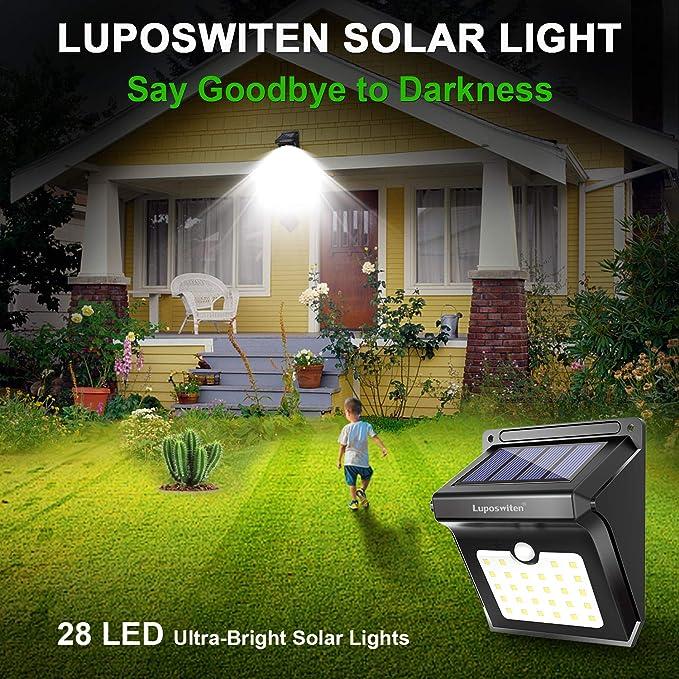 Exterieur Etanche Mouvement Spot Eclairage ExtérieurLuposwiten 28 JardinMaison Led Solaire De Pour Lampe Détecteur O8nwkX0P