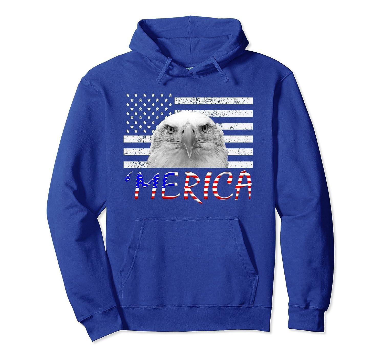 Merica Hoodie 4th Of July Men Women Kids Flag Eagle Gift- TPT
