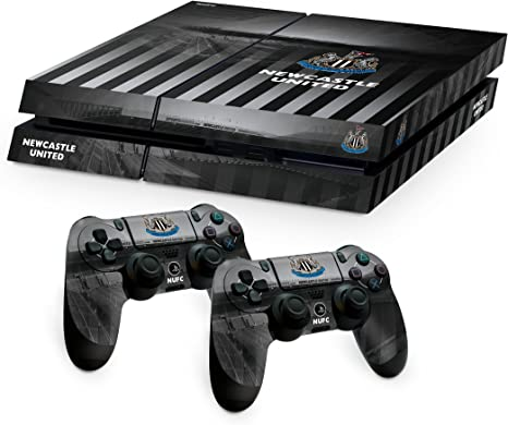 Newcastle United FC Playstation 4 PS4 negro blanco de la almohadilla de mando y la consola de la piel St James Park imagen Estadio escudo del club oficial de regalos: Amazon.es: Videojuegos
