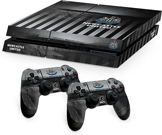 Newcastle United FC Playstation 4 PS4 negro blanco de la almohadilla de mando y la consola de la piel St James Park imagen Estadio escudo del club oficial de regalos: Amazon.es: Videojuegos