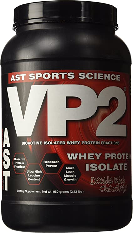 AST Sports Science, VP2, Whey Protein Isolate, Double Rich Chocolate, 2 lbs (908 g) by AST