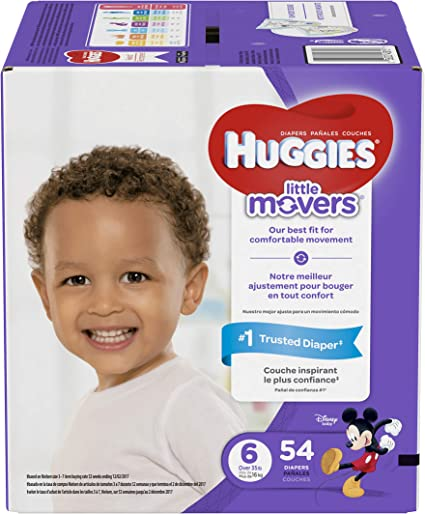 Huggies Little Snugglers /& Little Movers Plus Diapers Size 1 2 3 4 5 6 AVAILABL