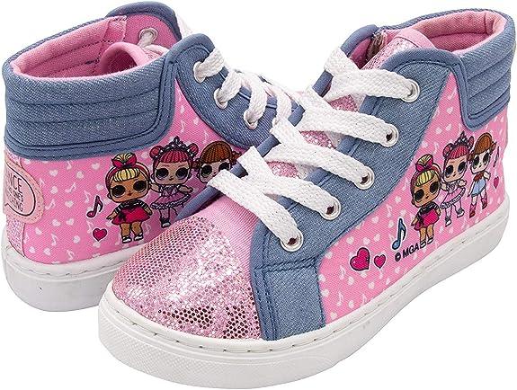 Amazon.com | L.O.L. Surprise! Girls Hi-Top Canvas Sneaker, Pink, 12 Little Kid | Sneakers