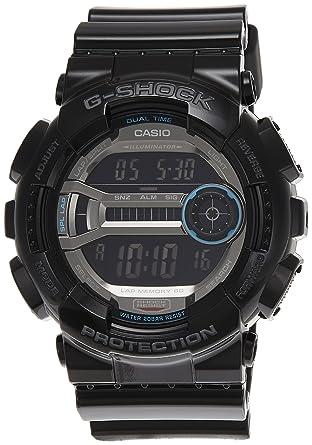 G Shock Waterproof >> Amazon Com Casio Men S Gd110 1 G Shock Black Resin 60 Lap Digital